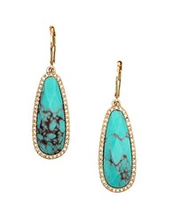 Lonna And Lilly Reconstituted Calcite Teardrop Earrings Green