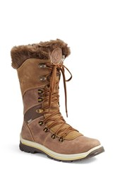 Santana Canada Women's 'Morella' Water Resistant Faux Fur Boot Brown Leather