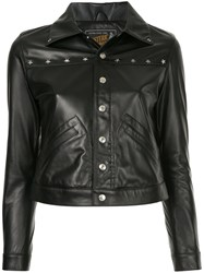 Hysteric Glamour Cropped Leather Jacket Black