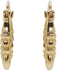 Pamela Love Gold Tribal Spike Hoop Earrings