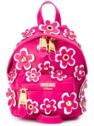 Moschino Flower Power Backpack Pink Purple