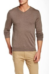 Bonobos Yorkshire Wool V Neck Sweater Brown