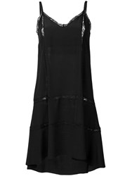 Semicouture High Low Dress Black