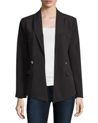 Michael Michael Kors Shawl Collar Open Blazer Black