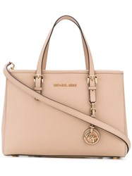 Michael Michael Kors Jet Set Travel Tote Women Leather One Size Nude Neutrals