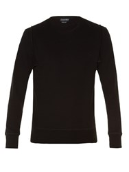 Alexander Mcqueen Logo Embroidered Long Sleeved Sweatshirt Black