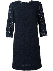 Burberry 'Carrie' Lace Dress Blue