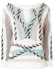 Peter Pilotto Chunky Knitted Cord Jumper White
