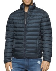 Calvin Klein Jeans Denim Twill Quilted Puffer Jacket Black