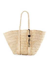 Seafolly Carried Away Beach Basket Tote Bag Brown