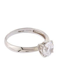 Carat 1Ct Solitaire Ring Female White Gold