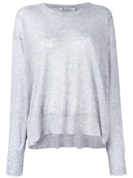 Alexander Wang Knit Long Sleeve Top Grey