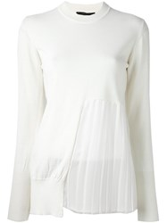 Erika Cavallini Sheer Panel Jumper White