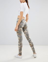 Freddy Wr.Up Shaping Effect Mid Rise Snug Stretch Push Up Jegging Green