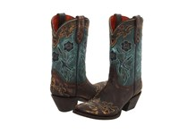 Dan Post Blue Bird Sanded Copper Turquoise Blue Bird Cowboy Boots Multi