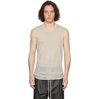 Rick Owens Off White Basic Tank Top