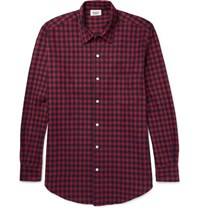 Sleepy Jones Noah Checked Cotton Flannel Pyjama Shirt Red