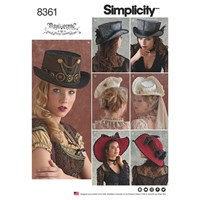 Simplicity Pattern 8361 Hats In Three Sizes S L