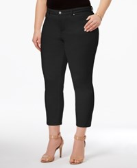 Charter Club Plus Size Bristol Tummy Control Capri Jeans Only At Macy's Saturated Black