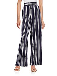 1.State Striped Wide Leg Pants Evening Navy