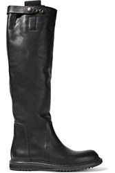 Rick Owens Leather Knee Boots Black