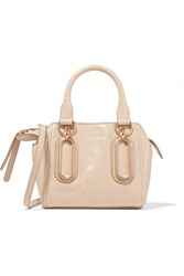 See By Chloe Paige Mini Glossed Leather Shoulder Bag Beige