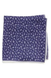 Southern Tide Maritime Skipjack Cotton And Silk Pocket Square Navy