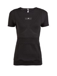 Adidas By Stella Mccartney Train Fitted T Shirt Black