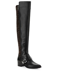 Carolinna Espinosa Dalton Faux Fur And Leather Boots Black Brown