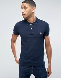 United Colors Of Benetton Short Sleeve Polo Shirt In Slim Fit Navy