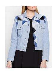 Diesel Roica Patchwork Denim Jacket Blue