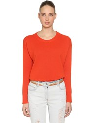 Etro Wool And Cashmere Knit Sweater Orange