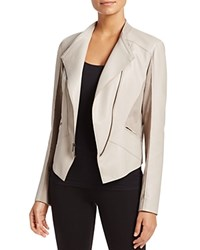 T Tahari Oriana Faux Leather Jacket Taupe