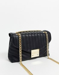 Carvela Honey Quilted Chain Handle Cross Body Bag In Black