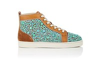 Christian Louboutin Men's Minerom Suede And Leather Sneakers Brown