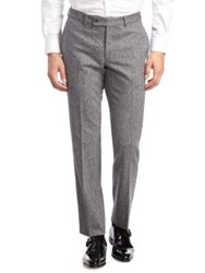 Saks Fifth Avenue Modern Donegal Suit Pants Grey