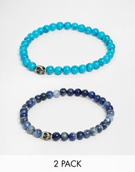 Simon Carter Semi Precious Bracelet Pack Blue