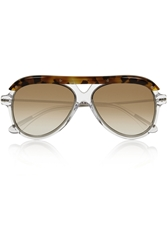 Roland Mouret Hudson Aviator Style Acetate And Metal Sunglasses