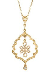 Freida Rothman 14K Gold Plated Sterling Silver Alhambra Love Knot Pendant Necklace Metallic