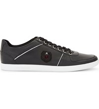 The Kooples Leather Lace Up Trainers Bla01