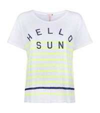 Sundry Hello Sun Stripe T Shirt Female Multi