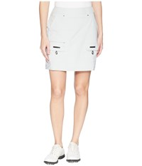 Jamie Sadock Airwear Lightweight Skort Filament Grey White