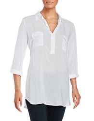 Splendid V Neck Tunic White