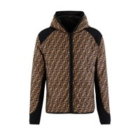 Fendi Ff Down Jacket Tobac. D. Brown Blue
