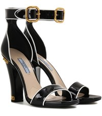 Prada Patent Leather Sandals Black