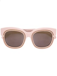 Stella Mccartney Falabella Lens Square Frame Sunglasses Pink Purple