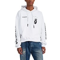 Off White C O Virgil Abloh Graphic Cotton Hoodie White