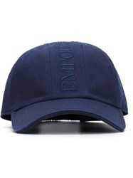 Emporio Armani Embroidered Logo Cap Blue
