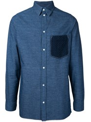 Loewe Patch Pocket Shirt Men Cotton M Blue