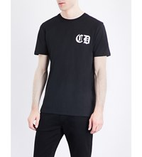 Criminal Damage Orie Dragon Print Cotton Jersey T Shirt Black